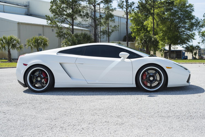 2006 White Lamborghini Gallardo E Gear